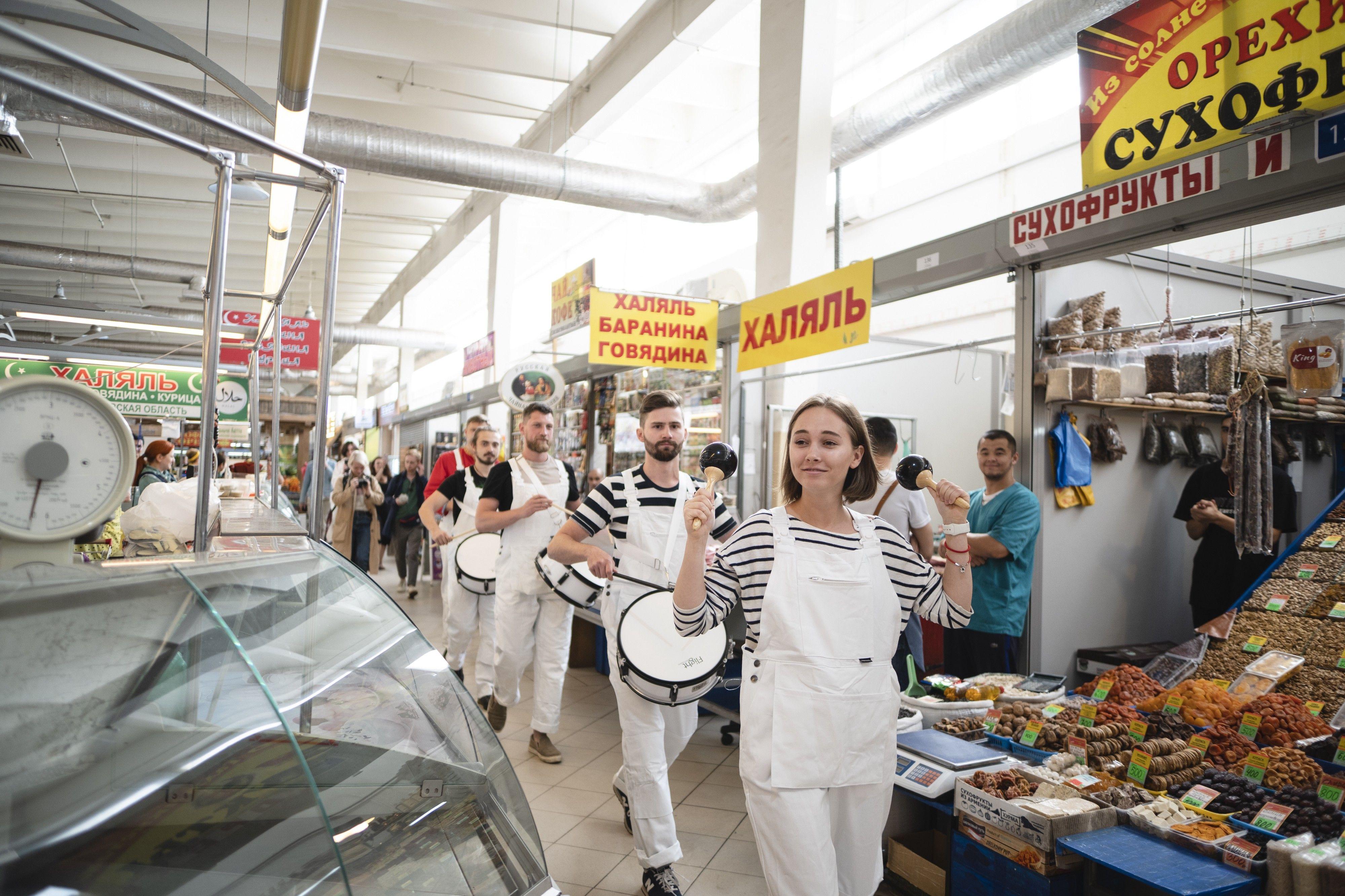 «Московские соло. Кунстхалле музыки» на Ленинградском рынке. Фото предоставлено Фондом V–A–C