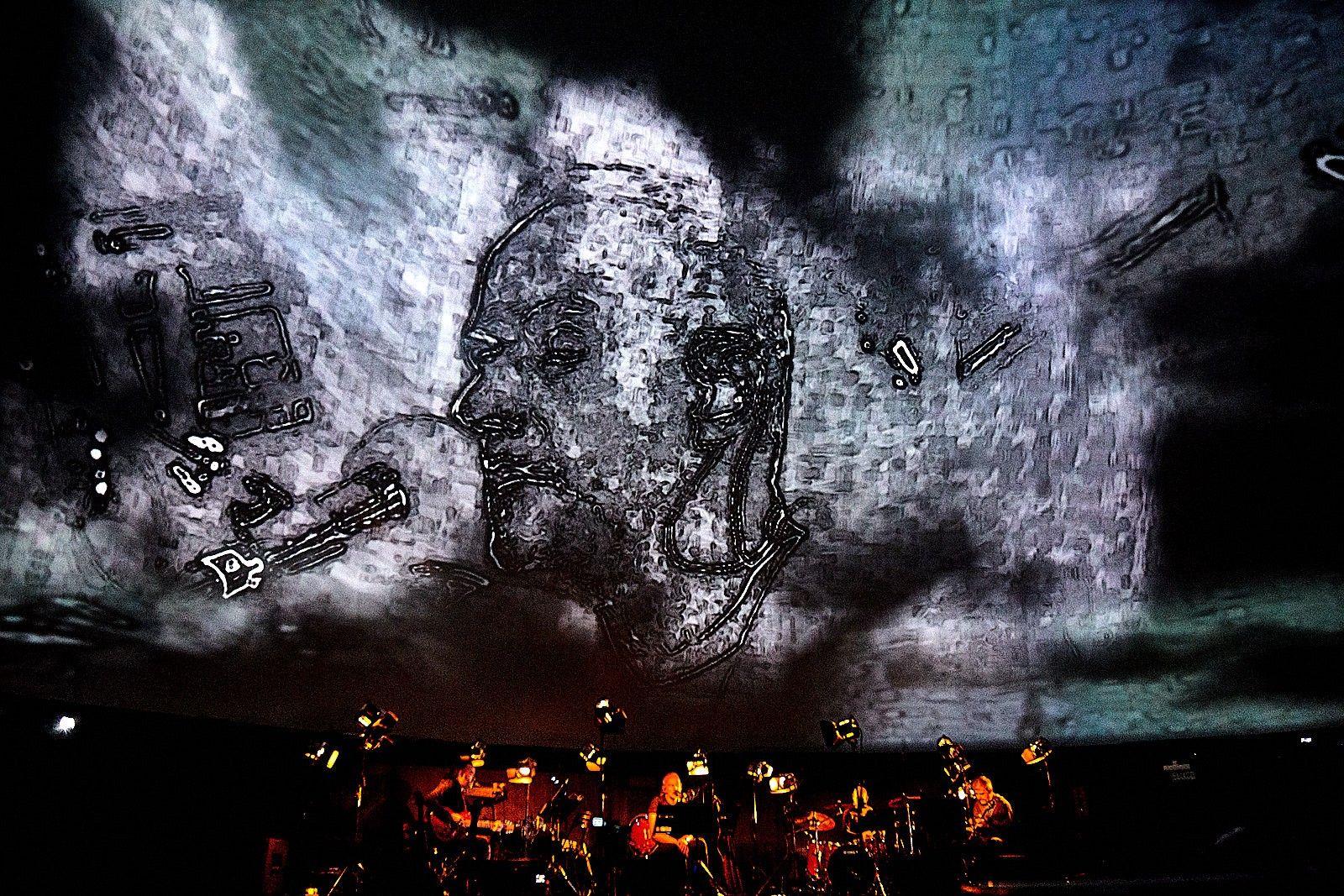 Концерт проекта Zerolines в Московском планетарии. Фото: Георгий Безбородов